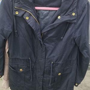 Divided navy jacket